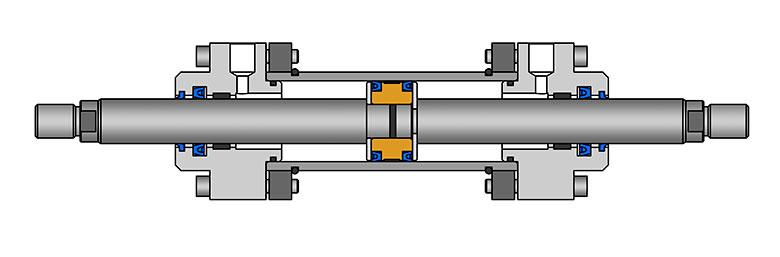Гидроцилиндр с двухсторонним штоком