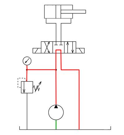 Иллюстрация работы гидроцилиндра
