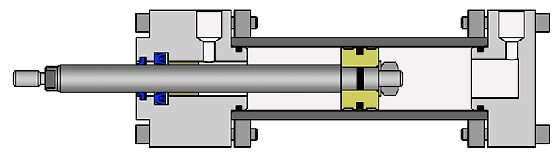 Круглый гидравлический цилиндр